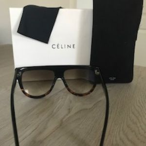 4ac9fd17a9cf Celine Accessories - Celine Shadow Cl 41026 S Flat Top Sunglasses